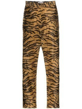Ashley Williams Tiger print faux fur executive trousers - Black