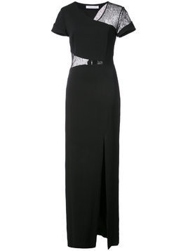 Kimora Lee Simmons lace wrap around gown - Black