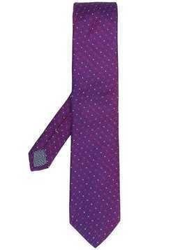 Eton spotted tie - Purple