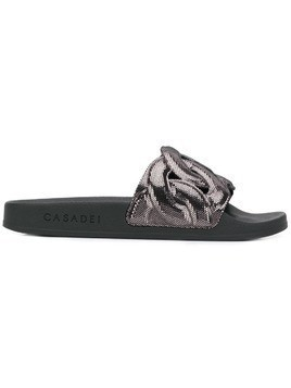 Casadei pool slides - Black