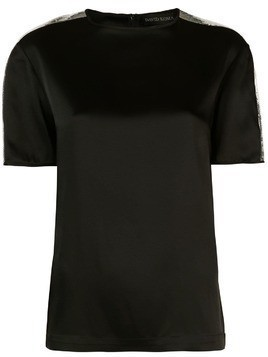 David Koma sequin shoulder T-shirt - Black
