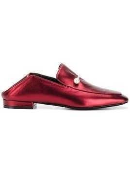 Coliac pearl embellished loafers - Red