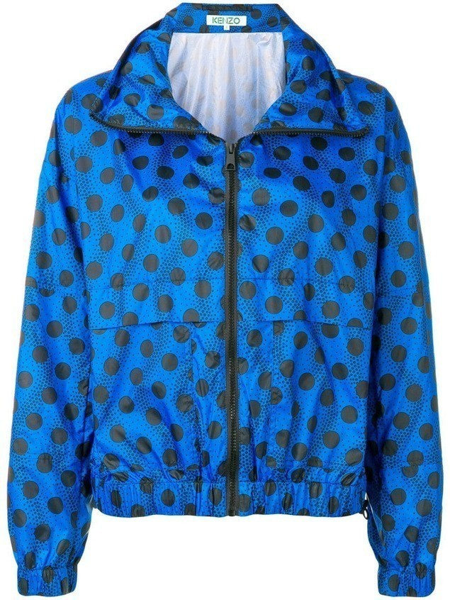Kenzo Wavy dots windbreaker jacket - Blue