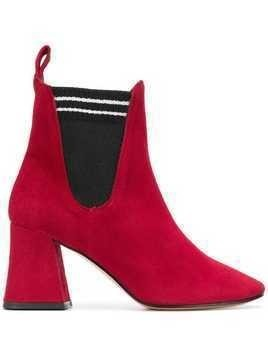 Marc Ellis block chelsea boots - Red