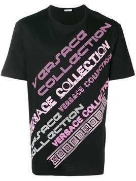 Versace Collection Multi Font Logo Tee - Black