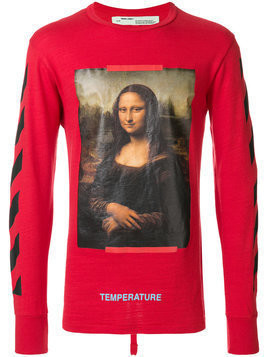 Off-White - diag Mona Lisa long sleeve T-shirt - Herren - Cotton - XS - Red