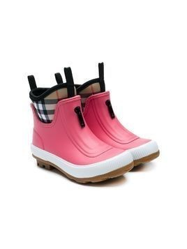 Burberry Kids printed wellies - Pink & Purple
