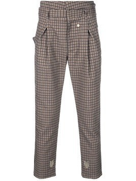 Bed J.W. Ford check regular fit trousers - Brown