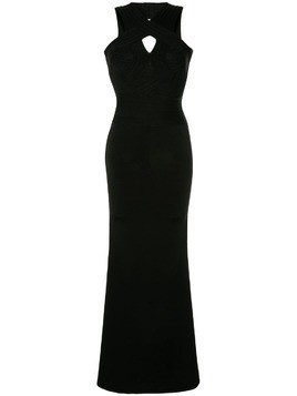 Hervé Léger cross halter neck dress - Black