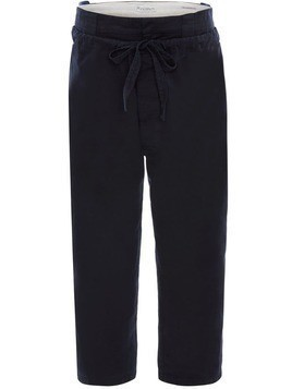 JW Anderson DRAWSTRING DOUBLE FRONT FLAP TROUSERS - Blue