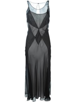 Maison Margiela semi-sheer panelled dress - Black
