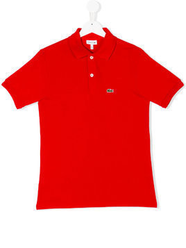 Lacoste Kids logo embroidery polo shirt - Red