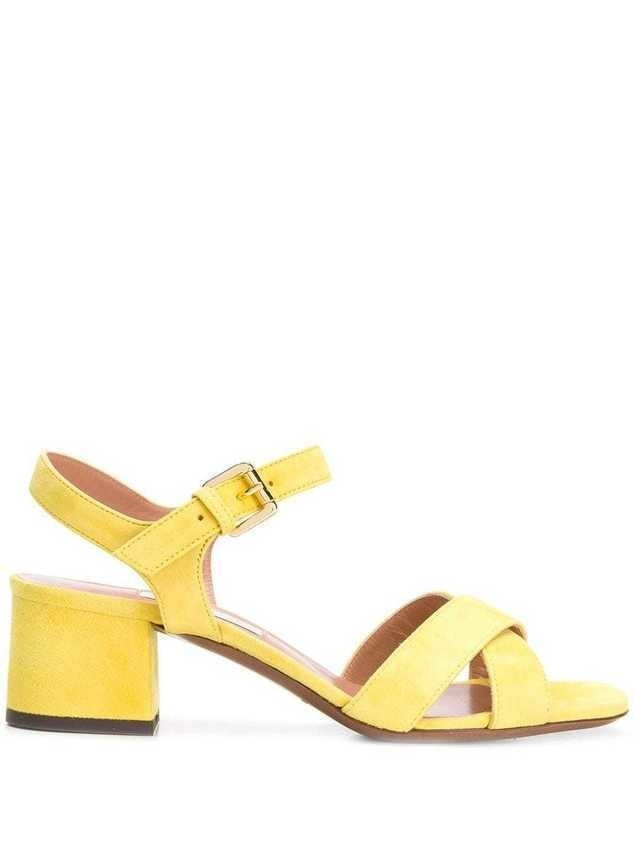 L'Autre Chose crossover slingback sandals - Yellow