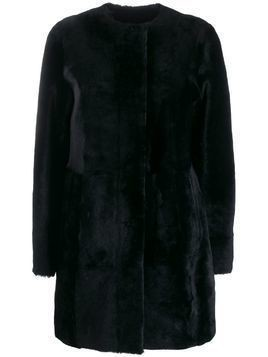 Drome fur midi coat - Black