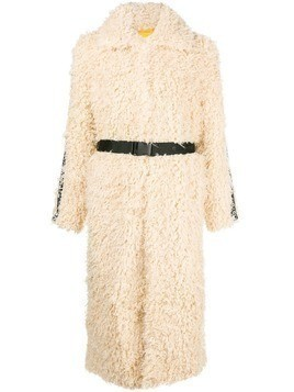 Pinko oversized shearling coat - Neutrals