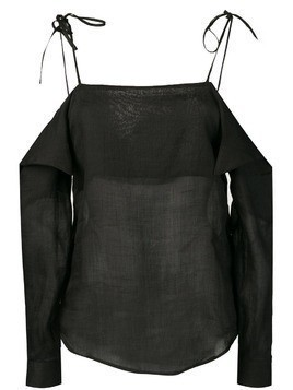 Tela off the shoulder top - Black