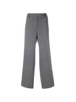 Giorgio Armani Pre-Owned pleated cropped trousers - Grey