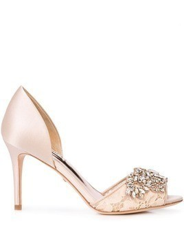Badgley Mischka crystal embellished pumps - Neutrals