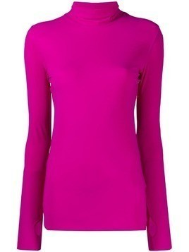 Dorothee Schumacher thumb hole roll neck top - Purple