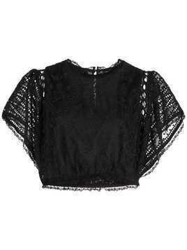 Cynthia Rowley Wicker Park lace top - Black