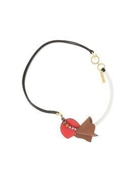 Marni asymmetric leather necklace - Multicolour
