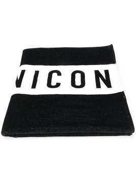 Dsquared2 Icon print beach towel - Black