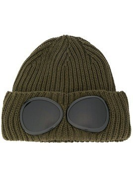 CP Company ribbed beanie with smoked lenses - Green