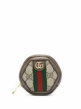Gucci mini Ophidia GG coin case - Brown