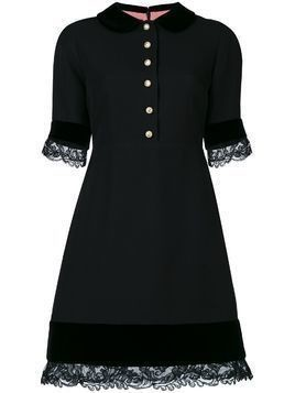 Gucci lace detail dress - Black