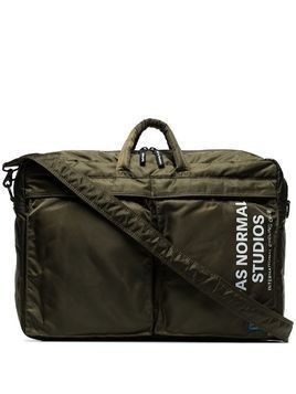 Pas Normal Studios x Porter Yoshida logo print padded briefcase - Green