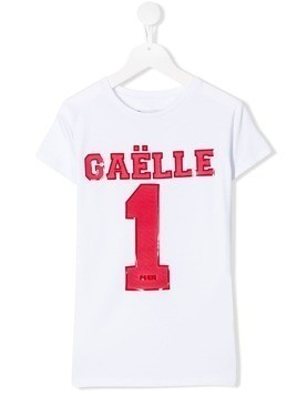 Gaelle Paris Kids TEEN brand logo T-shirt - White
