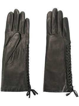 Agnelle gloves with lace detail - Black