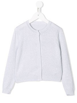 Lapin House knitted button-front cardigan - Grey