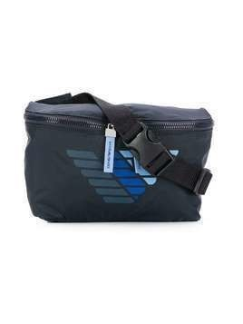 Emporio Armani Kids branded belt bag - Blue