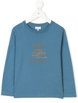 Knot Home printed T-shirt - Blue