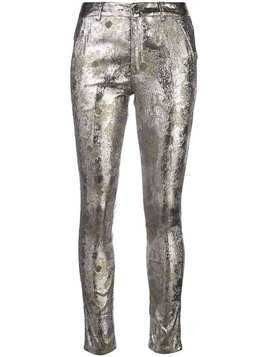 Cynthia Rowley Gold Coast metallic trousers - Silver