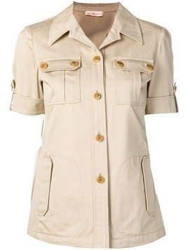 Tory Burch shortsleeved Safari shirt - Neutrals