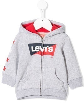 Levi's Kids logo zip up hoody - Grey