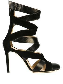 Repetto interlaced heeled sandals - Black