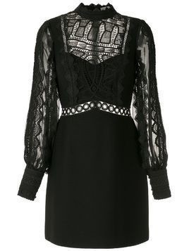 Martha Medeiros Natalia lace mix dress - Black