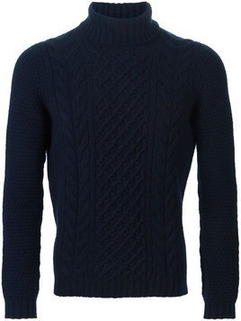 Drumohr cable knit sweater - Blue