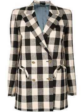 Blazé Milano check double breasted jacket - White