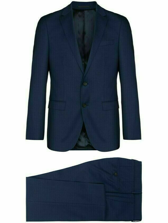 BOSS single-breasted two-piece suit - Blue
