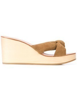 Loeffler Randall Taylor wedge mules - Brown
