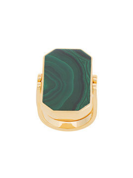 Julia Davidian double-sided octagon ring - Green