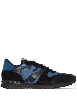 Valentino Camouflage Rockrunner low-top sneakers - Blue