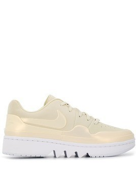 Nike metallic detail ridged sneakers - NEUTRALS