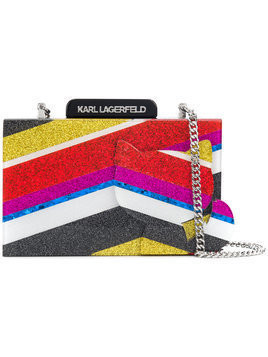 Karl Lagerfeld K Stripes Choupette clutch - Multicolour
