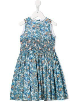 Cashmirino smocked Liberty dress - Blue