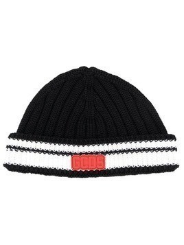 Gcds colour-block beanie hat - Black